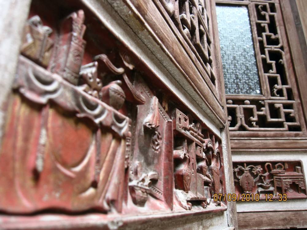 wooden carving, Hongcun